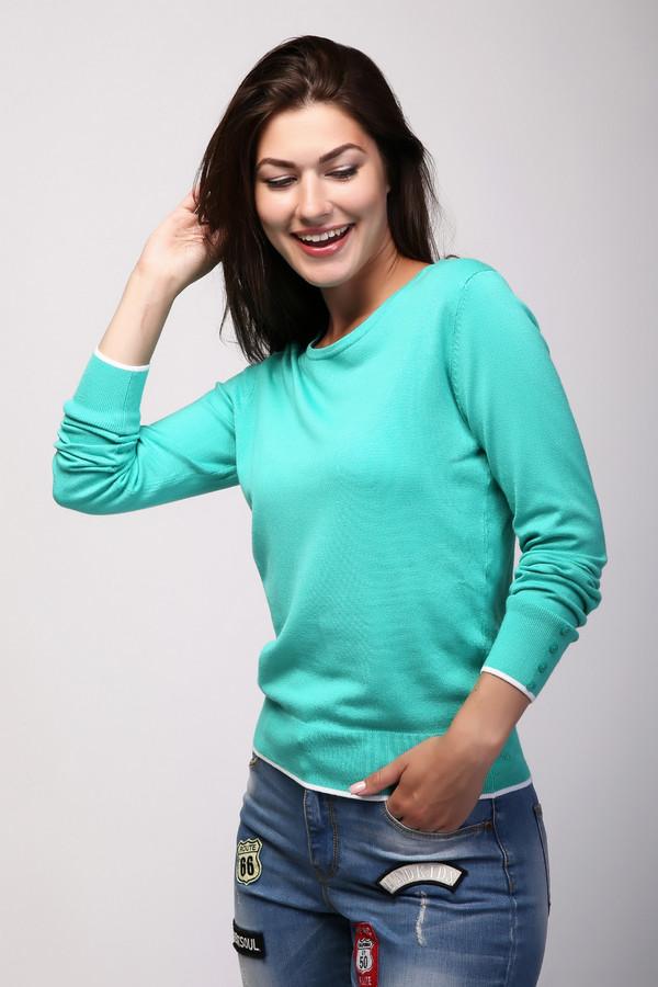 Пуловер PezzoПуловеры<br>Пуловер Pezzo зеленый женский. Оттенок бирюзы – один из самых желанных в женском гардеробе. Такая красивая вещь уж точно не останется без внимания, где бы вы ни находились. Состав: полиамид, вискоза. Края модели (низ самого изделия и его рукавов) отделаны белыми полосками. К тому же достаточно высокие манжеты модели украшены пуговицами. Пуловер очень просто комбинируется с прочими вещами из вашей коллекции.<br><br>Размер RU: 48<br>Пол: Женский<br>Возраст: Взрослый<br>Материал: полиамид 19%, вискоза 81%<br>Цвет: Зелёный