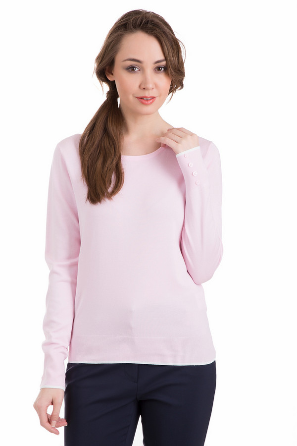 Пуловер PezzoПуловеры<br>Пуловер Pezzo розовый. Нежный и такой притягательный оттенок этой модели придется по душе сентиментальным натурам и всем тем женщинам, которым хочется добавить в свой образ нотку женственности. Состав: полиамид, вискоза. Края этой модели (а именно - низ самого изделия и его рукавов) отделаны декоративными белыми полосками. А еще высокие манжеты данной модели украшены пуговицами.<br><br>Размер RU: 42<br>Пол: Женский<br>Возраст: Взрослый<br>Материал: полиамид 19%, вискоза 81%<br>Цвет: Розовый