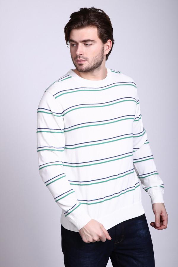 Джемпер PezzoДжемперы и Пуловеры<br>Джемпер Pezzo белый в полоску. Это красивое и такое элегантное изделие нарядного белого цвета отменно дополняют зеленые и синие полоски. Горизонтальный рисунок делает джемпер просто восхитительным! Он освежает саму модель, а также привносит в ваш образ немного оригинальности и яркости. Состав: 100%-ный хлопок. Оптимальный выбор для весны или осени.<br><br>Размер RU: 56<br>Пол: Мужской<br>Возраст: Взрослый<br>Материал: хлопок 100%<br>Цвет: Разноцветный