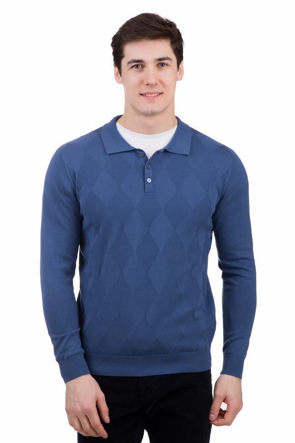 Джемпер PezzoДжемперы<br>Джемпер Pezzo синий. Модель с горловиной покроя поло и рисунком с ромбами привлекает к себе восхищенные взгляды. Такой джемпер понравится мужчине, ценящему стиль и практичность в одежде. Отлично сочетается джемпер с джинсами и классическими брюками. Состав: 100%-ный хлопок. Демисезонная вещь для уверенных в себе и решительных представителей сильного пола.<br><br>Размер RU: 46<br>Пол: Мужской<br>Возраст: Взрослый<br>Материал: хлопок 100%<br>Цвет: Синий