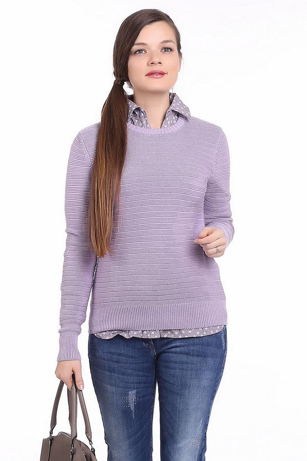Пуловер PezzoПуловеры<br>Простой женский пуловер Pezzo красивого сиреневого цвета. Такой пуловер будет хорошо сочетаться и с строгими брюками, и с игривыми юбками и с джинсами. Пуловер с длинными рукавами, чуть облегающий, без воротника. Манжеты выполнены из широкой резинки. Эта модель изготовлена из чистого хлопка. Весной и осенью такое изделие будет наиболее уместно.<br><br>Размер RU: 54<br>Пол: Женский<br>Возраст: Взрослый<br>Материал: хлопок 100%<br>Цвет: Сиреневый