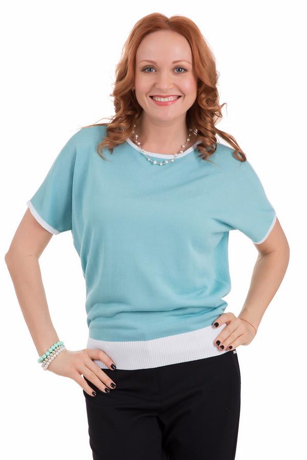 Пуловер PezzoПуловеры<br>Пуловер Pezzo голубой женский. Непринужденная модель с цельнокроеными рукавами – восхитительный выбор на лето. Края рукавов, вырез горловины отделаны декоративной полоской из пряжи другого цвета. Низ лифа – его широкая резинка – также выполнен в белом цвете. Состав: хлопок и вискоза. Голубой цвет всем к лицу, особенно дамам. Безупречный пуловер для теплых летних вечеров или прохладных дней.<br><br>Размер RU: 50<br>Пол: Женский<br>Возраст: Взрослый<br>Материал: вискоза 70%, хлопок 30%<br>Цвет: Голубой