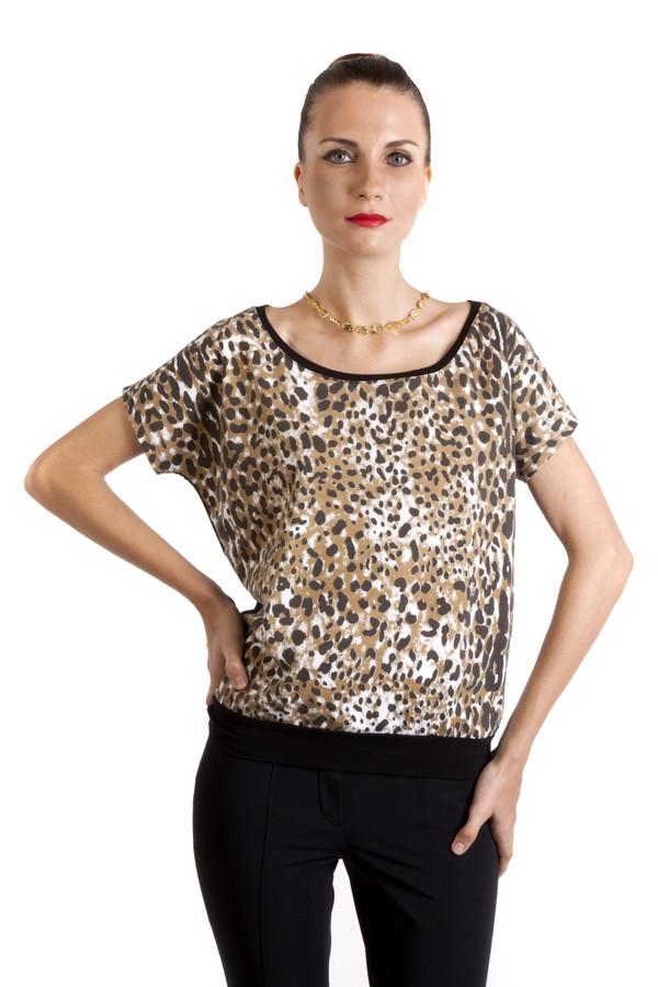 Футболка LocustФутболки<br>Черная футболка бренда Locust свободного кроя выполнена из хлопкового материала. Изделие дополнено: вырезом-лодочка и короткими рукавами-кимоно. Футболка оформлена модным леопардовым принтом.<br><br>Размер RU: 40-42<br>Пол: Женский<br>Возраст: Взрослый<br>Материал: хлопок 100%<br>Цвет: Разноцветный