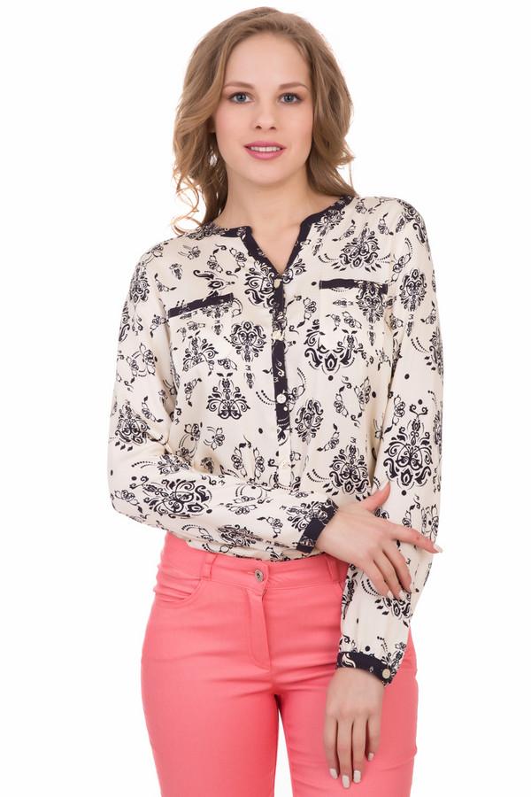 Блузa Eugen KleinБлузы<br>Блузa Eugen Klein бежево-черная. Эта модель прекрасно впишется в ваш гардероб. Глубокая застежка-поло и контрастная ткань на ней, вокруг выреза горловины, по краям рукавов, а также на нагрудных карманчиках выглядят очень стильно, современно и изящно. 100%-ная вискоза хорошо подходит для демисезонных вещей для носки под верхнюю одежду или самостоятельно в теплые дни.<br><br>Размер RU: 50<br>Пол: Женский<br>Возраст: Взрослый<br>Материал: вискоза 100%<br>Цвет: Чёрный