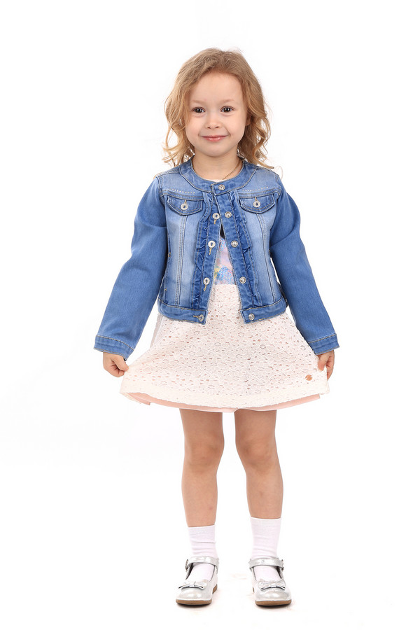Куртка SarabandaКуртки<br>Куртка Sarabanda голубая для девочки. Маленькие модницы всегда хотят выглядеть как взрослые. В такой курточке им это удастся лучше всего. Стильная вещь для малышки придется по душе как ей, так и окружающим. Застежка на молнии и практичные карманчики – такие важные детали данного изделия. Состав: полиэстер, эластан, хлопок.<br><br>Размер RU: 26;98<br>Пол: Женский<br>Возраст: Детский<br>Материал: хлопок 78%, эластан 1%, полиэстер 21%<br>Цвет: Голубой