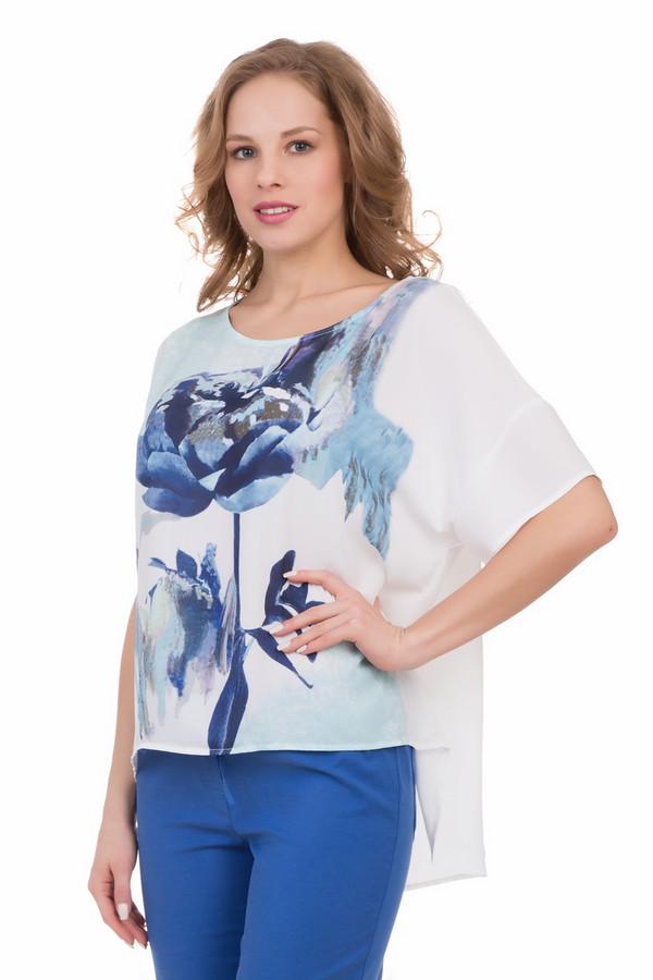 Блузa LocustБлузы<br>Блузa Locust белая с рисунком. Синие тона цветочного принта в центре лифа этой модели выглядят холодно и изысканно. Для лета такая гамма очень хороша, ведь с ней вы ощутите прохладу и легкость, что так важно в знойные дни. Удлиненная задняя часть модели делает ее одной из самых актуальных блуз этого сезона, а белый цвет фона переводит в разряд праздничных вещей для особого случая. Состав: 100%-ный полиэстер.<br><br>Размер RU: 44-46<br>Пол: Женский<br>Возраст: Взрослый<br>Материал: полиэстер 100%<br>Цвет: Разноцветный