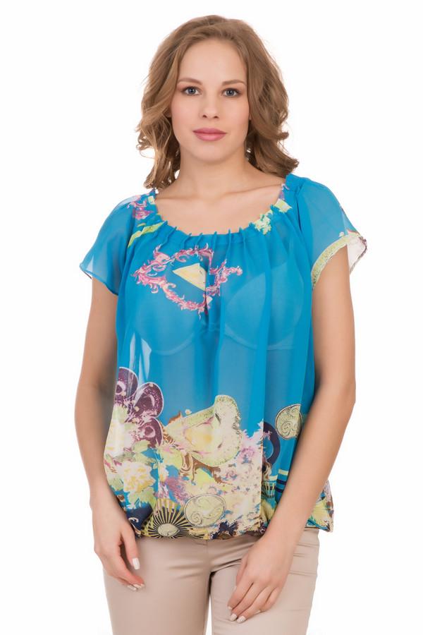Блузa LocustБлузы<br>Блузa Locust голубая. Очень милая модель. Легкая прозрачная и невесомая ткань – это изящно и по-летнему. Соблазнительная ткань с рисунком присборена вокруг округлого выреза горловины, а внизу собрана на резинку, что создает нетривиальный и такой интересный силуэт блузочки. Розовый, бежевый, зеленый и прочие цвета великолепно дополняют основной голубой фон нашей модели. Состав: 100%-ный полиэстер.<br><br>Размер RU: 40-42<br>Пол: Женский<br>Возраст: Взрослый<br>Материал: полиэстер 100%<br>Цвет: Разноцветный