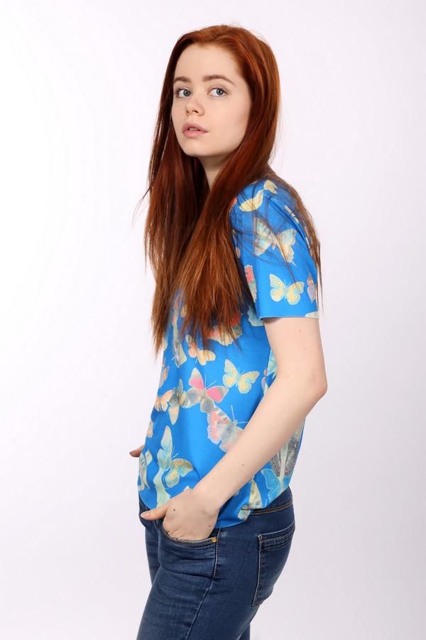 Блузa LocustБлузы<br>Блузa Locust с бабочками. Синий фон и оранжевые, желтые и бежевые бабочки смотрятся очень женственно и гармонично. В такой блузе вы будете всегда на высоте. Состав: эластан и полиэстер. Трогательная и немного сентиментальная модель, которая подойдет романтичным натурам, которые любят в одежде интересные симпатичные детали и элементы.<br><br>Размер RU: 40-42<br>Пол: Женский<br>Возраст: Взрослый<br>Материал: эластан 5%, полиэстер 95%<br>Цвет: Разноцветный