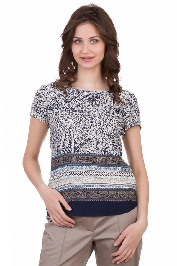 Блузa LocustБлузы<br>Блузa Locust из разноцветной ткани. Сшитая из материала с фантазийным рисунком, эта блузочка впечатляет своей элегантностью. Ее очень просто комбинировать с низом, выполненным в самых разных стилях. Везде она будет очень уместна и актуальна: хоть под джинсы, хоть под расклешенную романтичную юбку. Состав: эластан и полиэстер.<br><br>Размер RU: 40-42<br>Пол: Женский<br>Возраст: Взрослый<br>Материал: эластан 5%, полиэстер 95%<br>Цвет: Разноцветный