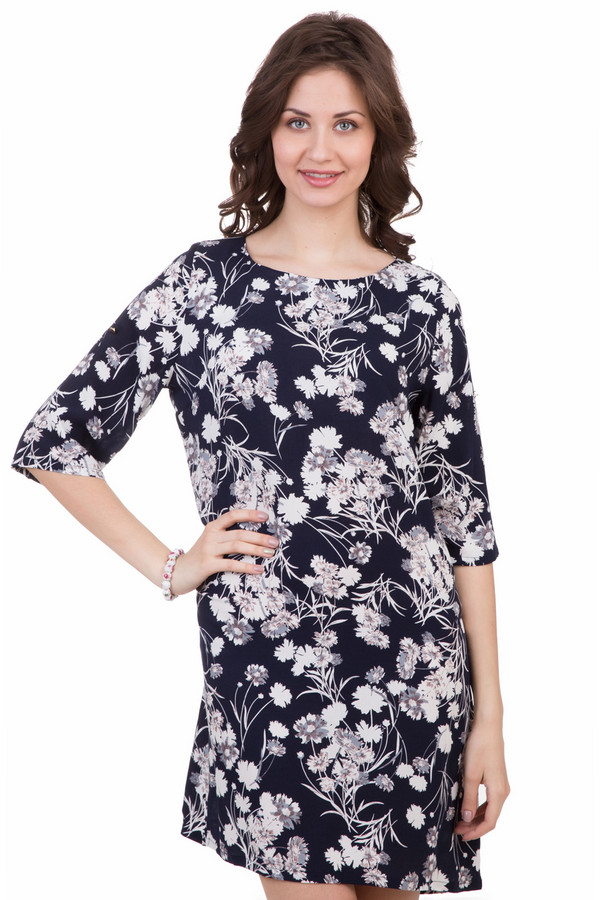 Платье LocustПлатья<br>Платье Locust разноцветное. Синий фон и серый, белый цвета в этой модели выглядят очень гармонично. Рисунок с полевыми цветами смотрится очень изящно и женственно. В таком платье всегда комфортно и удобно. Его свободный крой и рукав три четверти – залог успеха этой модели. Состав: 100%-ная вискоза.<br><br>Размер RU: 44-46<br>Пол: Женский<br>Возраст: Взрослый<br>Материал: вискоза 100%<br>Цвет: Разноцветный