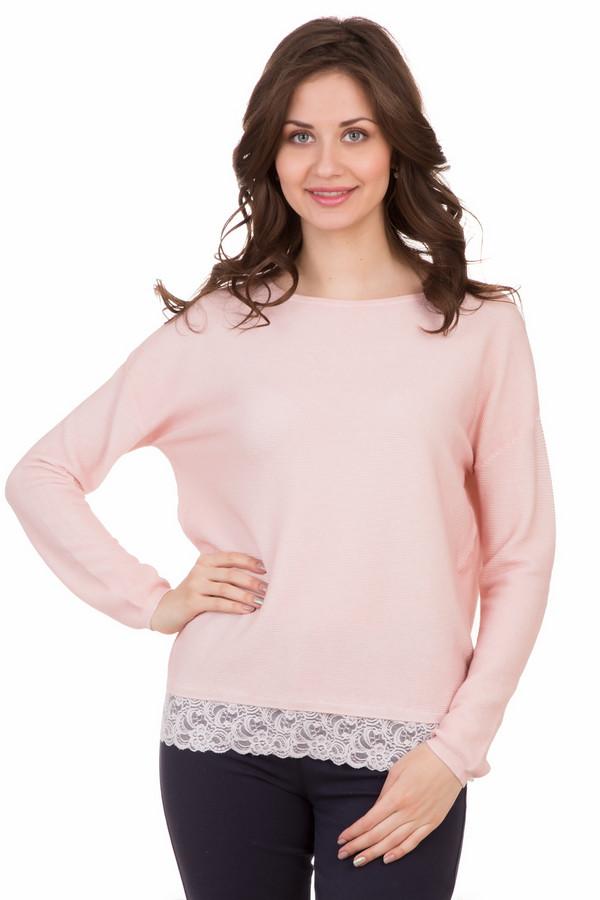 Пуловер OuiПуловеры<br><br><br>Размер RU: 48<br>Пол: Женский<br>Возраст: Взрослый<br>Материал: хлопок 100%<br>Цвет: Розовый