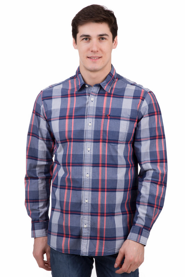 Рубашка с длинным рукавом s.OliverДлинный рукав<br>Рубашка с длинным рукавом s.Oliver клетчатая. Синий цвет здесь дополнен белым и красным. Такая вещь в клетку очень стильная и вместе с тем довольно привычная, ведь клетчатые рисунки уже давно завоевали себе популярность в среде модников обоих полов. Демисезонное изделие, которое отлично комбинируется с прочими вещами вашего гардероба. Состав: 100%-ный хлопок.<br><br>Размер RU: 48-50<br>Пол: Мужской<br>Возраст: Взрослый<br>Материал: хлопок 100%<br>Цвет: Разноцветный