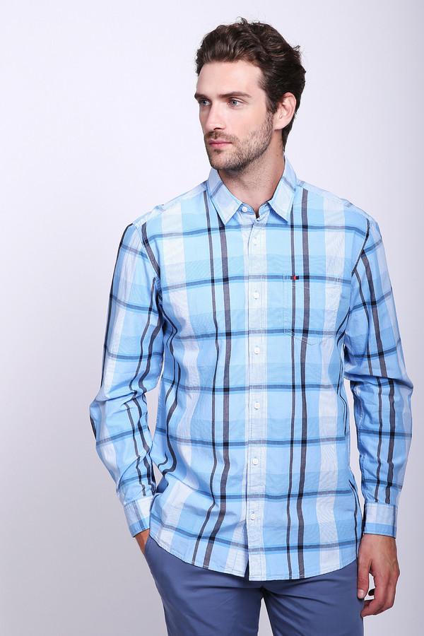 Рубашка с длинным рукавом s.OliverДлинный рукав<br>Рубашка с длинным рукавом s.Oliver в клетку. Голубые, серые и белые тона – это всегда красиво, в особенности если это мужская мода. Крупная клетка на данном изделии классического кроя смотрится очень хорошо, ведь в таком исполнении эта модель становится яркой и необычной. Состав: 100%-ный хлопок. Рубашку можно носить под джинсы или брюки.