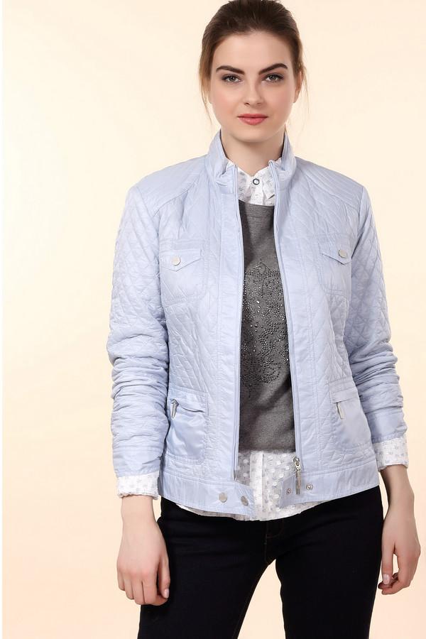 Куртка ErfoКуртки<br>Куртка Erfo голубая женская. Простеганная ткань и обилие накладных карманов – вот что отличает данную модель от всех остальных. Застежка на молнии спереди очень функциональна. Подойдет для стильных женщин, которые в равной степени ценят в одежде красоту и удобство. Интересно оформлены и плечики изделия. Состав: 100%-ный полиамид.<br><br>Размер RU: 52<br>Пол: Женский<br>Возраст: Взрослый<br>Материал: полиамид 100%, Состав_подкладка полиэстер 100%<br>Цвет: Голубой