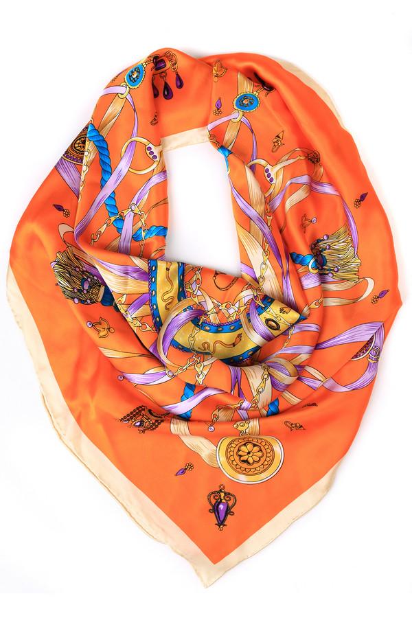 Платок Just ValeriПлатки и Палантины<br>Платок Just Valeri оранжевый. Сочный апельсиновый цвет – это яркая деталь вашего будничного или даже праздничного образа. С таким аксессуаром вам просто не будет равных. Нежная шелковая ткань приятно на ощупь – позвольте себе выглядеть шикарно. Изделие чудесно дополнит самые разные ансамбли, становясь непревзойденным их акцентом.<br><br>Размер RU: один размер<br>Пол: Женский<br>Возраст: Взрослый<br>Материал: шелк 100%<br>Цвет: Разноцветный