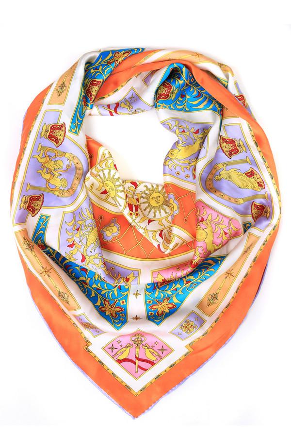 Платок Just ValeriПлатки<br>Платок Just Valeri цветной. Сочные оттенки и пестрые узоры смотрятся в этом изделии просто восхитительно! Белый, оранжевый, жёлтый, зелёный, голубой, сиреневый цвета комбинируются в волшебные узоры и делают свою обладательницу еще очаровательнее. Состав: 100%-ный шелк. Приятная на ощупь ткань отлично идет для весны, лета и осени.<br><br>Размер RU: один размер<br>Пол: Женский<br>Возраст: Взрослый<br>Материал: шелк 100%<br>Цвет: Разноцветный