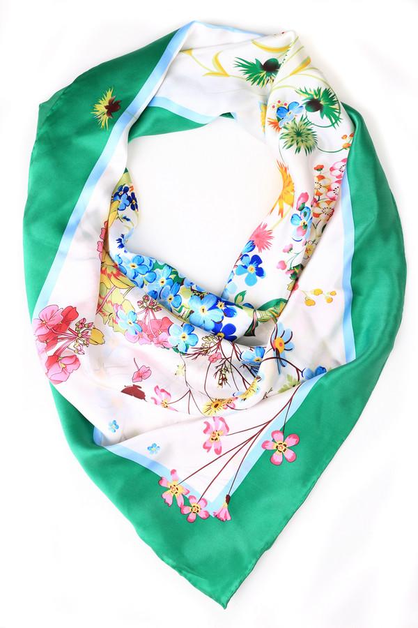 Платок Just ValeriПлатки и Палантины<br>Платок Just Valeri разноцветный. Нежные и хрупкие веточки цветов смотрятся просто бесподобно! Белый фон аксессуара дополнен этими элегантными мотивами, а также украшен по периметру зеленой и голубой полосой. От этой модели платка веет весенней свежестью и легкостью, вы в нем будете также цвести и благоухать. Состав: 100%-ный шелк.<br><br>Размер RU: один размер<br>Пол: Женский<br>Возраст: Взрослый<br>Материал: шелк 100%<br>Цвет: Разноцветный