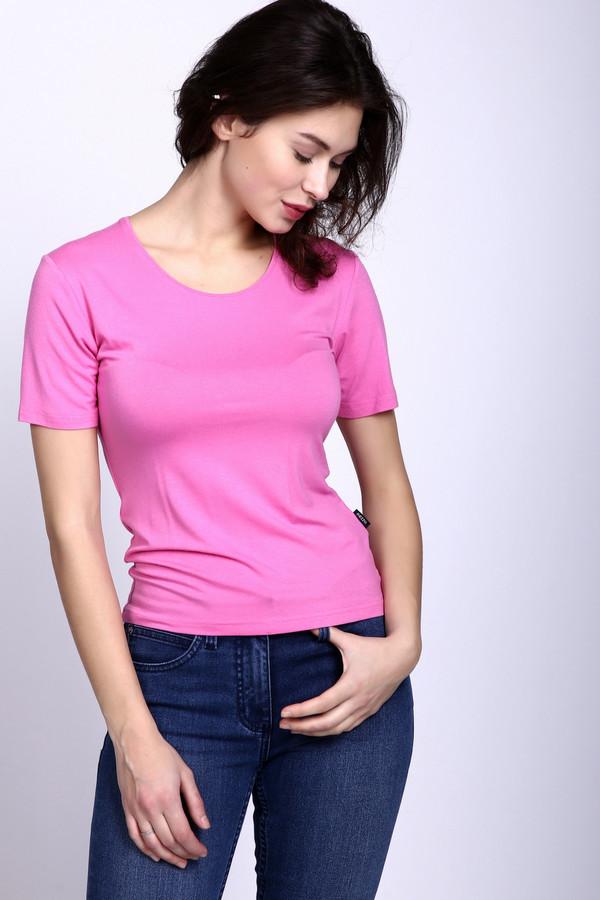 Футболка PezzoФутболки<br>Футболка Pezzo розовая. Стильная вещь для женственных дам. В ней все просто и со вкусом. Округлый вырез горловины выглядит очень нежно и актуально для теплых летних деньков. Футболку можно заправлять или носить навыпуск – она при этом будет одинаково красиво выглядеть. Состав: вискоза и эластан. Хорошо идет под брюки и юбки разных фасонов.<br><br>Размер RU: 52<br>Пол: Женский<br>Возраст: Взрослый<br>Материал: эластан 5%, вискоза 95%<br>Цвет: Розовый