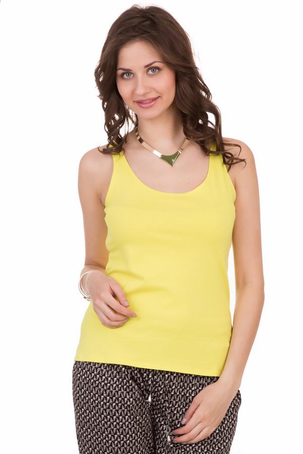 Топ PezzoТопы<br>Топ Pezzo желтый. Актуальная модель на лето, яркая и солнечная. Необычайно гармоничная и свежая расцветка придется по душе многим. Округлый достаточно глубокий вырез горловины открывает красивую шеи и плечи. Модель хороша для женщин любого возраста. Состав: хлопок и эластан. Летом это изделие просто незаменимо. Выглядит оно на все 100%!<br><br>Размер RU: 46<br>Пол: Женский<br>Возраст: Взрослый<br>Материал: хлопок 95%, эластан 5%<br>Цвет: Жёлтый