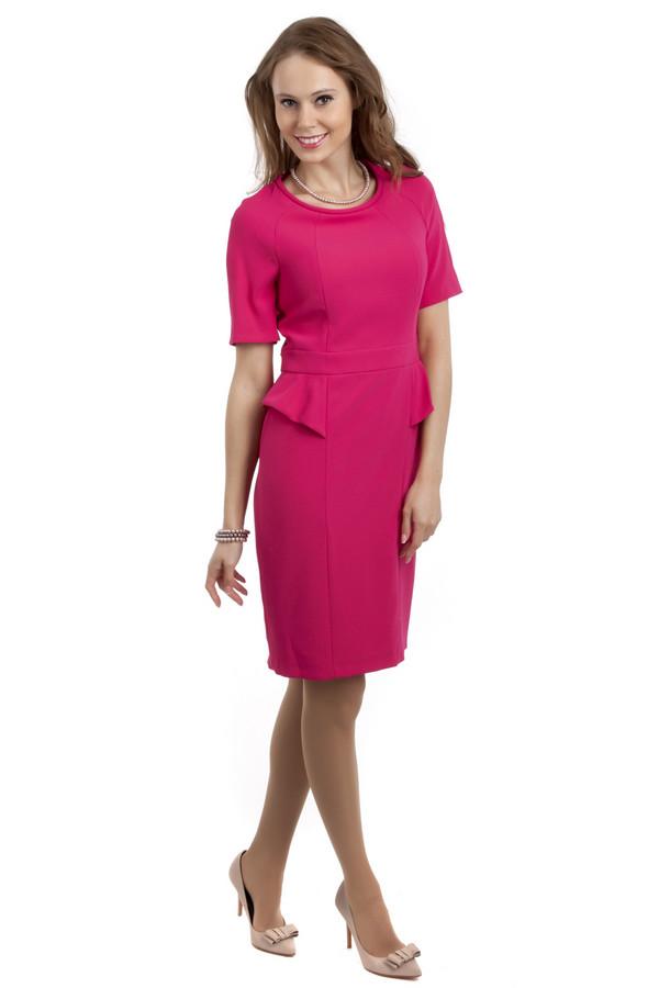 Вечернее платье ApanageВечерние платья<br>Женственное розовое платье Apanage приталенного кроя. Изделие дополнено: круглым вырезом, короткими рукавами, баской на талии и шлицем. На спинке расположена скрытая молния.<br><br>Размер RU: 42<br>Пол: Женский<br>Возраст: Взрослый<br>Материал: полиэстер 100%<br>Цвет: Розовый