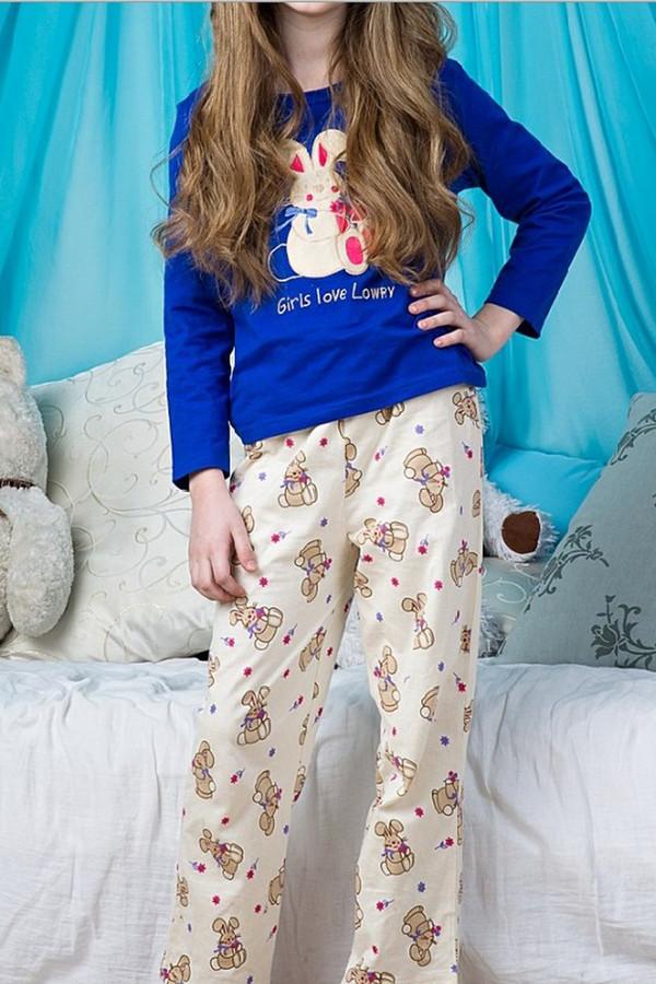 Пижама LowryПижамы<br>Пижама Lowry бежево-синяя для девочки. Сочетание однотонной ткани и материала с рисунком, а также яркий принт на лифе изделия – вот составляющие успеха этой милой и такой яркой модели. Состав: 100%-ный хлопок. Демисезонная пижама для маленькой модницы. В ней ей будет всегда тепло, комфортно и очень уютно. Красота же этого комплекта вне конкуренции.<br><br>Размер RU: 28<br>Пол: Женский<br>Возраст: Детский<br>Материал: хлопок 100%<br>Цвет: Бежевый