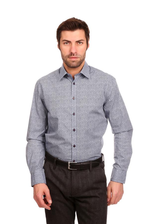 Рубашка с длинным рукавом CalamarДлинный рукав<br>Строгая мужская рубашка с длинным рукавом Calamar, несмотря на свою пеструю расцветку, может надеваться под деловой костюм. Мелкая черно-голубая клетка на белом фоне издали выглядит практически однотонно-серой. Прямой крой, длинные рукава с манжетами на пуговицах, отложной воротничок. Выполнена модель из чистого хлопка. Носиться может осенью или весной.<br><br>Размер RU: 39-40<br>Пол: Мужской<br>Возраст: Взрослый<br>Материал: хлопок 100%<br>Цвет: Разноцветный