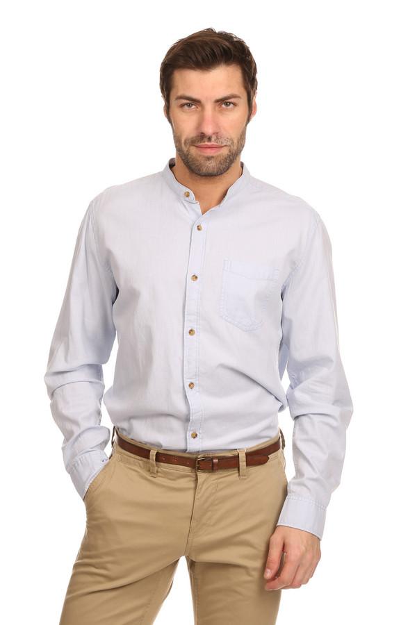 Рубашка с длинным рукавом s.OliverДлинный рукав<br>Рубашка с длинным рукавом s.Oliver голубого цвета дополнит деловой костюм любого мужчины. Прямой покрой, длинный рукав с манжетами на пуговицах, небольшой воротничок-стойка, дополняет модель небольшой накладной кармашек на груди. Выполнено изделие из чистого хлопка. Летом в такой рубашке будет достаточно комфортно.<br><br>Размер RU: 50-52<br>Пол: Мужской<br>Возраст: Взрослый<br>Материал: хлопок 100%<br>Цвет: Голубой