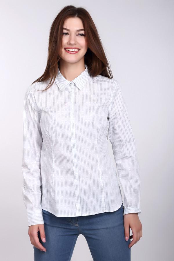 Блузa CommaБлузы<br>Шикарная блузa Comma для деловых женщин. Эта белая блузка в голубой квадратик станет отличным дополнением делового костюма, и сможет подчеркнуть вашу женственность и красоту. Длинные рукава дополнены манжетами, есть небольшой отложной воротничок. В состав изделия входят хлопок, полиамид, эластан. Осенью и весной в нем будет наиболее удобно.