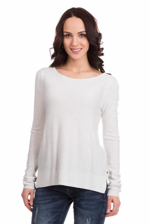 Пуловер CommaПуловеры<br>Женственный и нежный пуловер Comma может стать как частью повседневного, так и рабочего костюма. Хорошо сочетается с джинсами, брюками и прямыми юбками. Приталенного покроя, с длинными рукавами, овальным широким вырезом горловины. На боках снизу есть разрезы, облегчающие движение. Изделие белого цвета, состоит из вискозы и полиамида. Осенью или весной будет наиболее актуальным.<br><br>Размер RU: 40<br>Пол: Женский<br>Возраст: Взрослый<br>Материал: полиамид 45%, вискоза 55%<br>Цвет: Белый