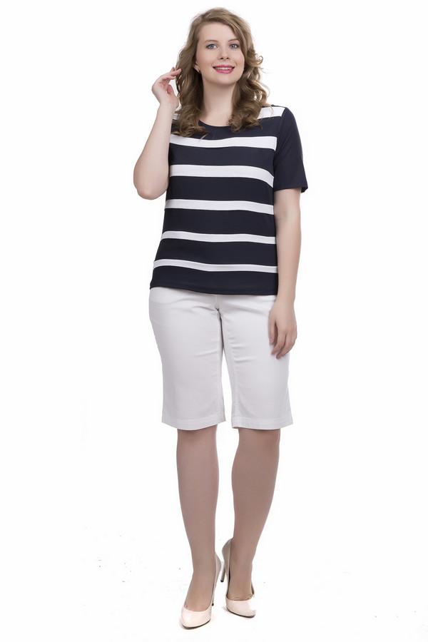 Блузa Frank WalderБлузы<br>Необычная и броская блузa Frank Walder подойдет для женщин, которые любят проявлять своеобразие в выборе стиля одежды. Расцветка сочетает черный и белый цвета. Основная часть блузы прямого покроя выполнена из черной ткани в белую полоску, а короткие рукава - однотонно-черные. Изготовлена модель из эластана и вискозы. Летом в ней будет наиболее комфортно.<br><br>Размер RU: 48<br>Пол: Женский<br>Возраст: Взрослый<br>Материал: вискоза 93%, эластан 7%<br>Цвет: Белый