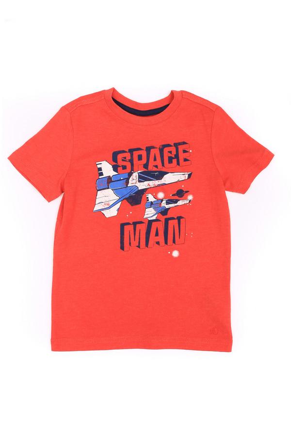 """Футболки и поло s.OliverФутболки и поло<br>Детская футболка для мальчиков от s.Oliver поможет ребенку почувствовать себя настоящим супергероем. Футболка выполнена в красном цвете. Длина - средняя, рукава - короткие. Футболка спереди дополнительно украшена надписью """"Space man"""" и принтом с изображением звездолета. Такая футболка отлично подойдет для носки летом под шорты или джинсы. Состав - 100% хлопок.<br><br>Размер RU: 28;104-110<br>Пол: Мужской<br>Возраст: Детский<br>Материал: хлопок 100%<br>Цвет: Красный"""