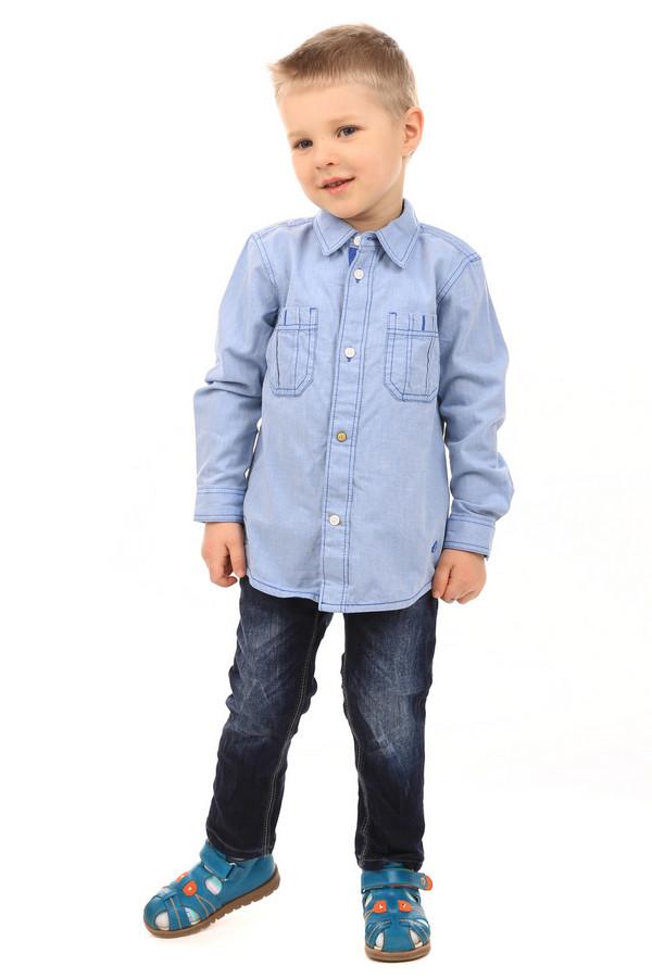 """Рубашка s.OliverРубашки<br>Детская рубашка для мальчиков от s.Oliver. Рубашка светло-голубого цвета, слегка удлиненная, рукава длинные. Изделие свободное, не облегает. Застегивается спереди на пуговицы. Есть воротник. Спереди рубашка дополнительно украшена двумя карманами. На задней части изделия, сверху, имеется надпись, размещенная в три строки: """"Explore the Space. Original brand. Adventure"""". Состав изделия - 100% хлопок.<br><br>Размер RU: 32-34;128-134<br>Пол: Мужской<br>Возраст: Детский<br>Материал: хлопок 100%<br>Цвет: Голубой"""