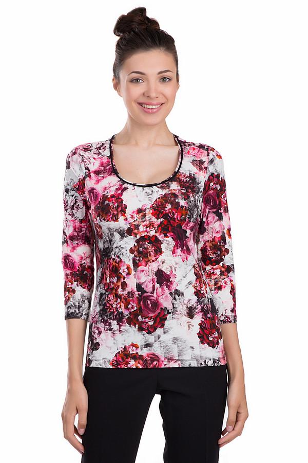 Блузa Betty BarclayБлузы<br>Женственная блуза Betty Barclay прямого кроя. Изделие дополнено: круглым вырезом и рукавами 3/4. Блуза оформлена цветочным принтом.<br><br>Размер RU: 42<br>Пол: Женский<br>Возраст: Взрослый<br>Материал: хлопок 92%, эластан 8%<br>Цвет: Разноцветный