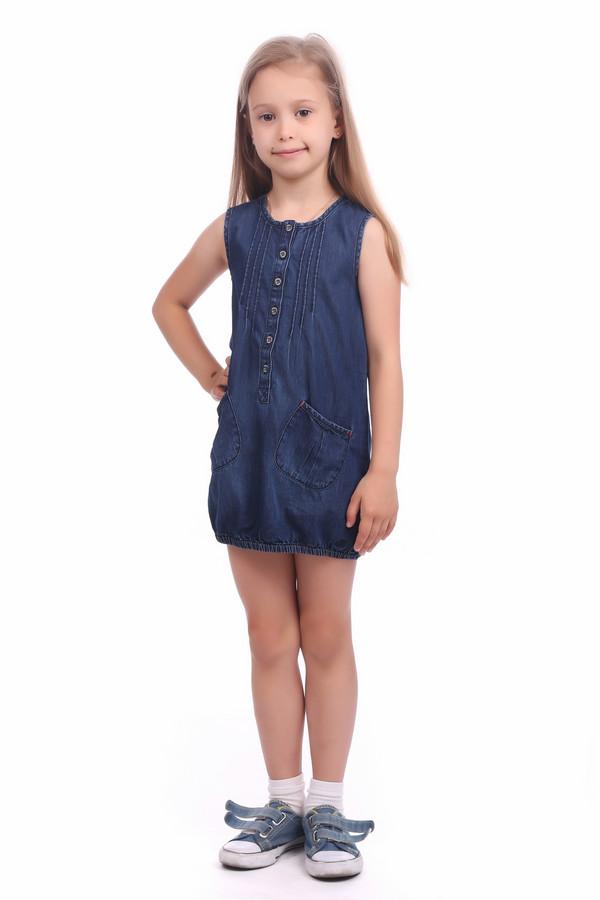 Платье s.OliverПлатья<br><br><br>Размер RU: 26;98<br>Пол: Женский<br>Возраст: Детский<br>Материал: хлопок 100%<br>Цвет: Синий