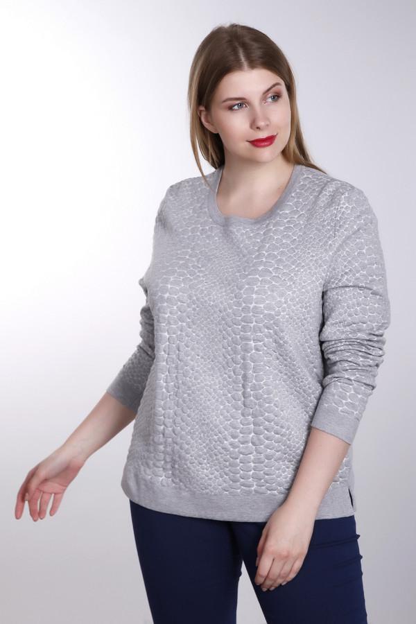 Пуловер Betty BarclayПуловеры<br>Стильный серый пуловер Betty Barclay прямого кроя с объемным вязанным узором. Изделие дополнено: круглым вырезом и длинными рукавами. Ворот, манжеты и нижний кант оформлены эластичной трикотажной резинкой. Пуловер благородного винного оттенка добавит изысканности вашему образу.<br><br>Размер RU: 44<br>Пол: Женский<br>Возраст: Взрослый<br>Материал: полиамид 30%, хлопок 32%, полиакрил 38%<br>Цвет: Серый