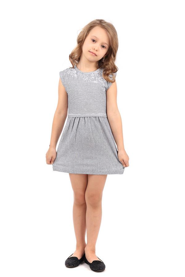 Платье s.OliverПлатья<br><br><br>Размер RU: 30;122<br>Пол: Женский<br>Возраст: Детский<br>Материал: хлопок 100%<br>Цвет: Синий