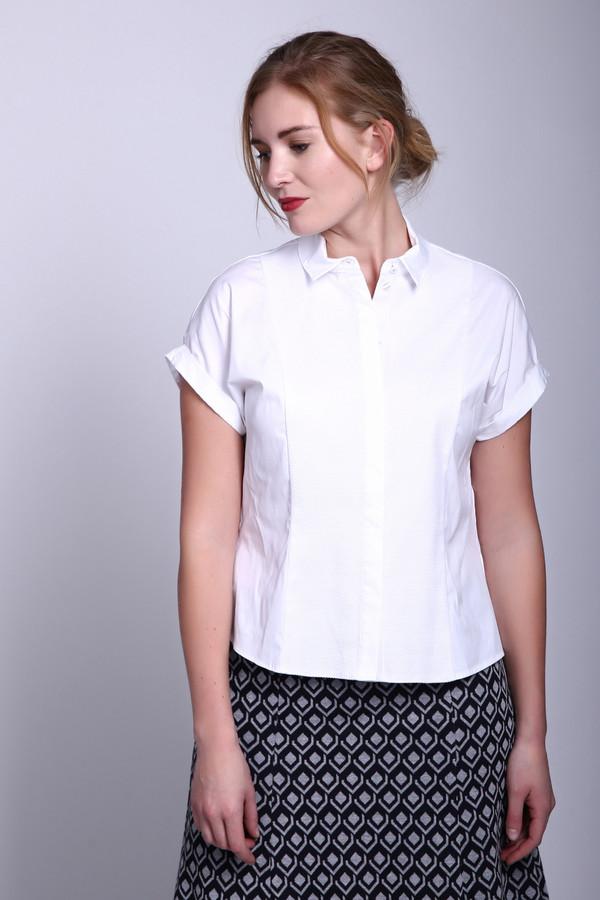 Блузa SteilmannБлузы<br>Блузa Steilmann белая женская. Нарядная блузка для изысканных романтичных женщин. Белый цвет универсален, он никогда не выйдет из моды, поэтому всегда будет иметь успех и спрос. Модель выполнена в классическом стиле: прямой крой, полочка с рельефными вытачками от середины плеча до низа, короткий рукавчик, небольшой отложной воротничок и застёжка поло - делают её очень красивой. Состав: хлопок, полиамид и эластан.<br><br>Размер RU: 46<br>Пол: Женский<br>Возраст: Взрослый<br>Материал: эластан 3%, полиамид 22%, хлопок 75%<br>Цвет: Белый