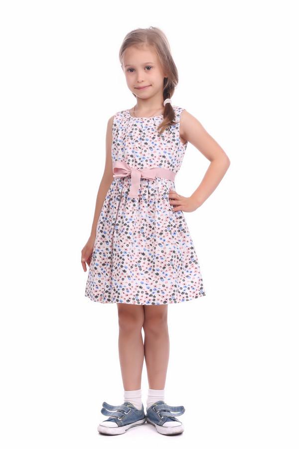 Платье s.OliverПлатья<br>Платье s.Oliver бело-серо-розово-голубое для девочки. Яркое летнее платье для маленькой модницы. Красивый цветочный принт, элегантная горловина, пышная юбка со складочками по линии талии, эффектный розовый пояс делают эту модель потрясающе стильной. В таком платье ваш ребёнок всегда будет выглядеть нарядно и комфортно, потому что оно выполнено из натуральных материалов – хлопка и вискозы.<br><br>Размер RU: 32;128<br>Пол: Женский<br>Возраст: Детский<br>Материал: хлопок 60%, вискоза 40%, Состав_подкладка хлопок 100%<br>Цвет: Разноцветный