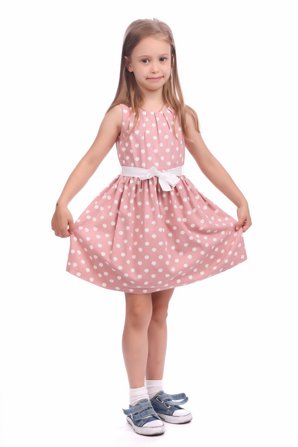 Платье s.OliverПлатья<br>Платье s.Oliver розово-белое для девочки. Чудесное летнее платьице для маленькой красавицы. Модель, изготовленная из натурального материала, с за щипами вокруг горловины, расклешённой юбочкой и кокетливым белым бантиком смотрится очень эффектно. Кроме того, подкладка из хлопка создаёт пышный объём юбки и подчёркивает милую фигурку. Состав: хлопок, вискоза.<br><br>Размер RU: 32;128<br>Пол: Женский<br>Возраст: Детский<br>Материал: хлопок 60%, вискоза 40%, Состав_подкладка хлопок 100%<br>Цвет: Белый