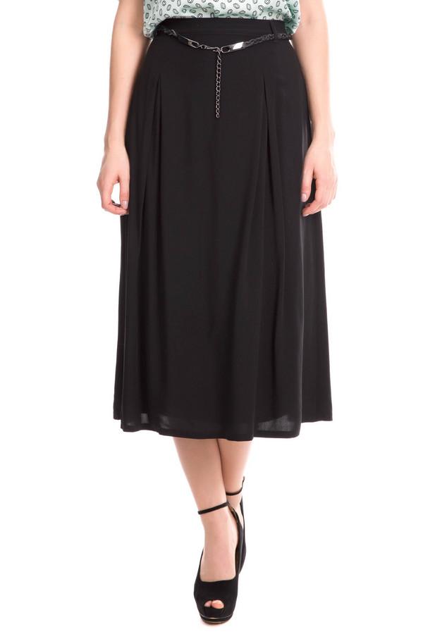 Юбка Gerry WeberЮбки<br>Юбка Gerry Weber черная женская. Элегантная юбка-миди подойдёт любой женщине. Модель выполнена в классическом чёрном цвете, из тонкой прозрачной ткани с подкладкой. От бёдер книзу идут с двух сторон складки, что подчеркивает линию талии и делает фигуру очень женственной. Такая юбка должна быть в гардеробе каждой женщины. Состав: 100%-ная вискоза.<br><br>Размер RU: 42<br>Пол: Женский<br>Возраст: Взрослый<br>Материал: вискоза 100%, Состав_подкладка полиэстер 100%<br>Цвет: Чёрный