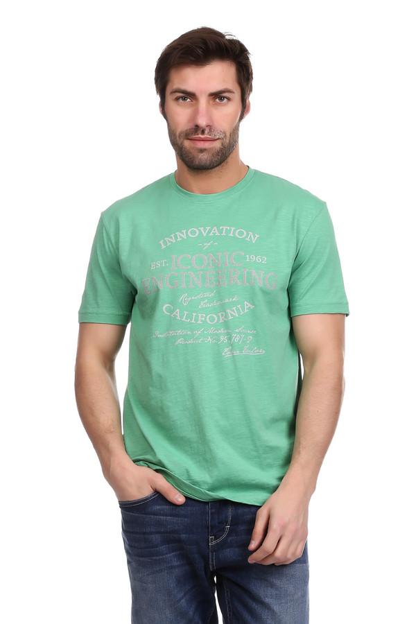 Футболкa Tom TailorФутболки<br>Футболкa Tom Tailor зелёная мужская. Классический крой этой модели с прямым силуэтом и короткими рукавами отлично смотрится на мужской фигуре. Декорированная надпись на английском языке подчеркивает стильность этой футболки. Пастельный оттенок делает эту модель универсальной. Такую футболку можно носить в комплекте с джинсами или брюками тёмного или светлого тона. Состав: 100%-ный хлопок.<br><br>Размер RU: 46-48<br>Пол: Мужской<br>Возраст: Взрослый<br>Материал: хлопок 100%<br>Цвет: Зелёный