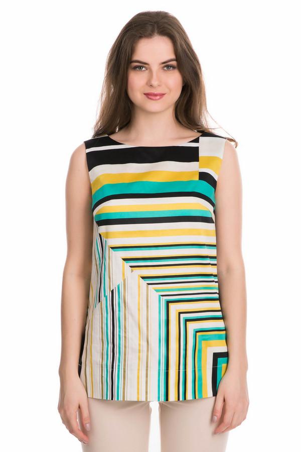 Блузa FemmeБлузы<br>Блузa Femme разноцветная. Белый, жёлтый и зелёный цвета соединились в данной модели, создавая восхитительный образ. Актуальный геометрический узор превосходно дополняет необычный крой изделия. Непревзойденное изделие для лета, сделанное из 100%-ного хлопка. Носить блузу можно под разную одежду. Это изделие must-have.<br><br>Размер RU: 42<br>Пол: Женский<br>Возраст: Взрослый<br>Материал: хлопок 100%<br>Цвет: Разноцветный