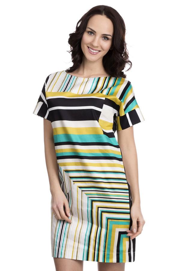 Платье FemmeПлатья<br>Платье Femme разноцветное. Белый, жёлтый и зелёный цвета сплелись в этой модели, творя восхитительный образ. Актуальный геометрический рисунок отлично дополняет необычный крой данного платья. Непревзойденное изделие для летних дней, сделанное из 100%-ного хлопка. Носить такое платье можно под самую разную обувь: туфли, босоножки, слипоны. Мини-платье прямого силуэта с элегантным нагрудным карманчиком – изделие must-have.<br><br>Размер RU: 48<br>Пол: Женский<br>Возраст: Взрослый<br>Материал: хлопок 100%<br>Цвет: Разноцветный