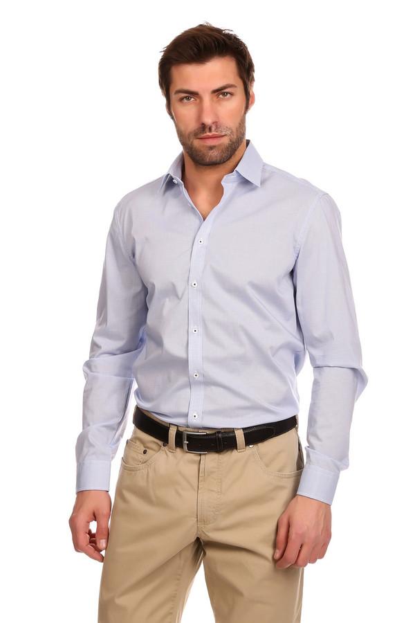 Рубашка с длинным рукавом VentiДлинный рукав<br>Рубашка с длинным рукавом Venti бело-голубая. Модели в таком цвете уже давно завоевали свое место в базовом мужском гардеробе. Интересная деталь этой лаконичной рубашки – контрастные темные нитки, которыми пришиты пуговицы изделия. Выглядит это очень свежо и необычно. Состав: 100%-ный хлопок. Мелкая клеточка – еще один повод приобрести такую рубашку.<br><br>Размер RU: 44<br>Пол: Мужской<br>Возраст: Взрослый<br>Материал: хлопок 100%<br>Цвет: Голубой