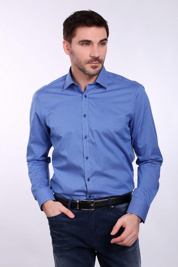 Рубашка с длинным рукавом VentiДлинный рукав<br><br><br>Размер RU: 40<br>Пол: Мужской<br>Возраст: Взрослый<br>Материал: хлопок 100%<br>Цвет: Синий