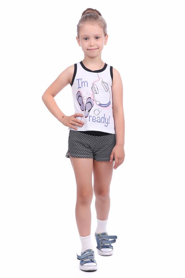 Комплект BrumsКомплекты<br>Комплект Brums для девочки. Что может быть лучше для лета, чем модный костюмчик в светлых тонах? Белый, чёрный и синий цвета гармонично соединились в этом милом комплекте. Шортики в горошек с миниатюрными разрезами по бокам и маечка с контрастной отделкой и крупным актуальным принтом – это то, что делает данную модель яркой и особенной.<br><br>Размер RU: 28;110<br>Пол: Женский<br>Возраст: Детский<br>Материал: см. на вшивном ярлыке 0%<br>Цвет: Разноцветный