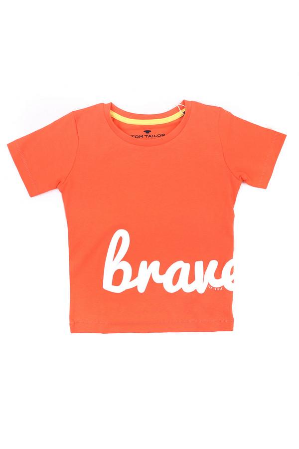 Футболки и поло Tom TailorФутболки и поло<br><br><br>Размер RU: 28;104-110<br>Пол: Мужской<br>Возраст: Детский<br>Материал: хлопок 100%<br>Цвет: Оранжевый