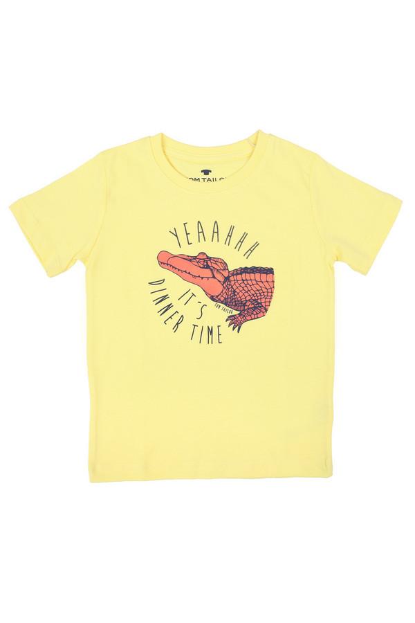Футболки и поло Tom TailorФутболки и поло<br><br><br>Размер RU: 32-34;128-134<br>Пол: Мужской<br>Возраст: Детский<br>Материал: хлопок 100%<br>Цвет: Жёлтый