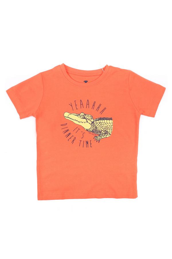 Футболки и поло Tom TailorФутболки и поло<br><br><br>Размер RU: 30;116-122<br>Пол: Мужской<br>Возраст: Детский<br>Материал: хлопок 100%<br>Цвет: Оранжевый