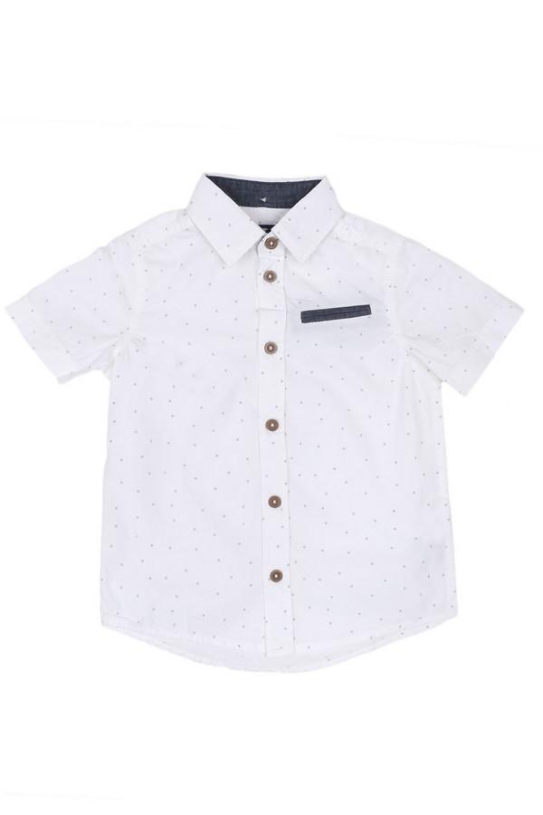 Рубашка Tom TailorРубашки<br>Рубашка Tom Tailor белая в мелкий рисунок. Красивые пуговицы дополняют безупречный образ этой вещи. Внутренняя часть воротничка и прорезной нагрудный карман отделаны более темной синей тканью. Летнее изделие из натурального материала. Состав: 100%-ный хлопок, что делает футболку очень комфортной в носке.<br><br>Размер RU: 30;116-122<br>Пол: Мужской<br>Возраст: Детский<br>Материал: хлопок 100%<br>Цвет: Белый